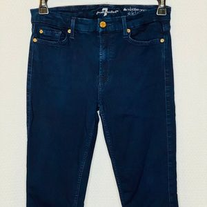 7 For All Mankind Mid Rise Ankle Skinny Jeans J110